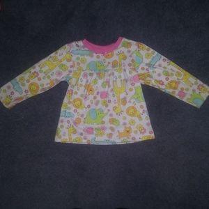 💥 Carter's Animal Long Sleeve Pajama Shirt